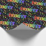"""[ Thumbnail: Rainbow First Name """"Trinity"""" + Stars Wrapping Paper ]"""