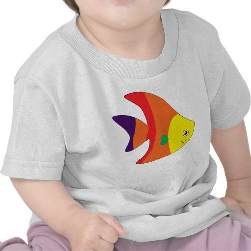 Rainbow Fish Baby Apparel Shirt