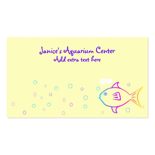 Rainbow Fish Business Card Templates