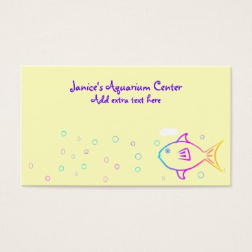 Professional Business Rainbow Fish Business Card