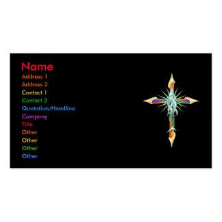 Rainbow Fish Cross Business Card