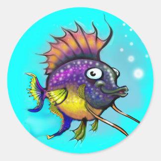 Rainbow Fish Round Stickers