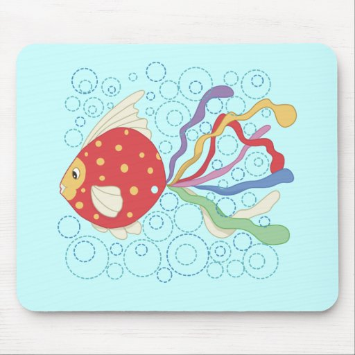 Rainbow Fish Tshirts and Gifts Mouse Pad