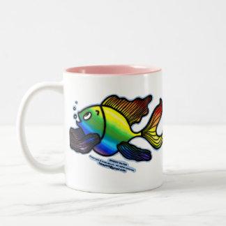 Rainbow Fish Two-Tone Coffee Mug