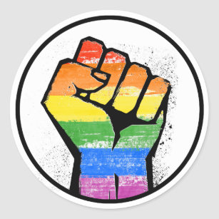 Image result for rainbow power fist pump