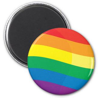 Rainbow Flag 2 Inch Round Magnet