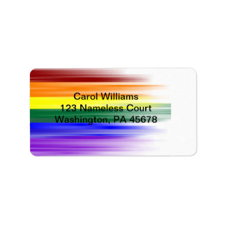 Rainbow Flag Address Label Sheet