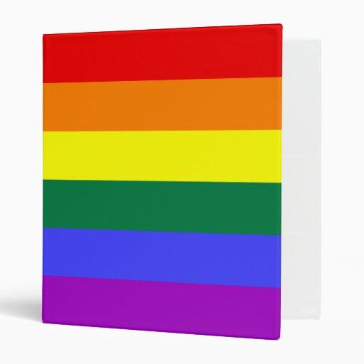 Rainbow Flag Avery Binder