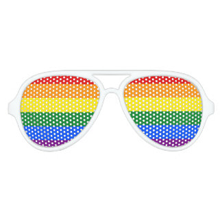 Rainbow Flag Aviator Sunglasses