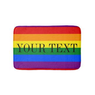 Rainbow flag bath mat | Colored bathroom rug Bath Mats