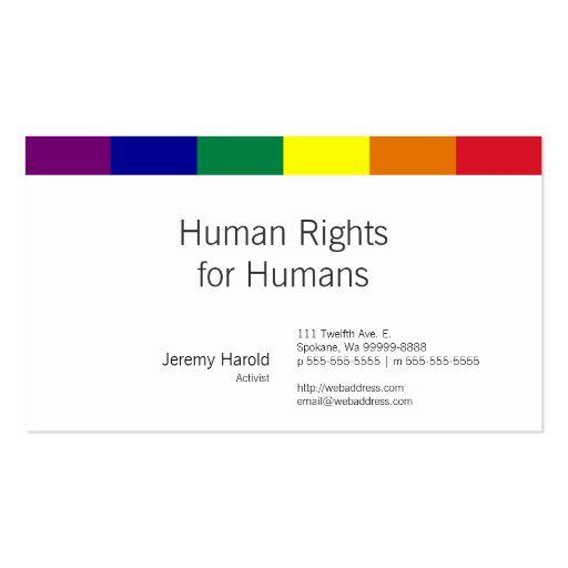 Rainbow Flag Business Cards