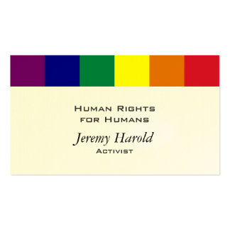 Rainbow Flag Double-Sided Standard Business Cards (Pack Of 100)