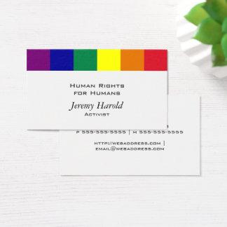 Rainbow Flag Business Card