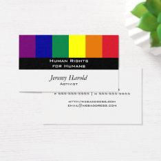 Rainbow Flag Business Card at Zazzle