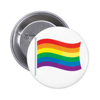 Rainbow Flag Pinback Buttons
