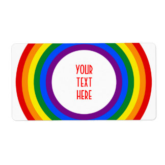 RAINBOW FLAG BUTTON + your sign or text Label