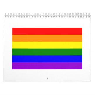 Rainbow flag calendar