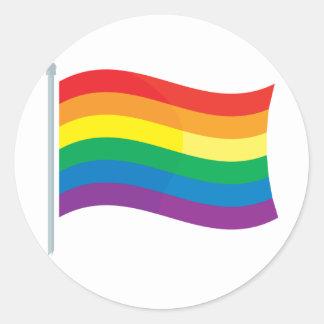 Rainbow Flag Classic Round Sticker