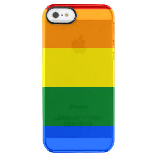 Rainbow Flag Clear iPhone SE/5/5s Case