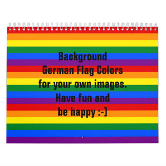 RAINBOW FLAG COLORS CALENDAR for your own images