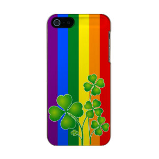 RAINBOW FLAG COLORS & clover + your ideas Metallic iPhone SE/5/5s Case