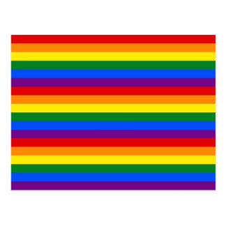RAINBOW FLAG COLORS POSTCARD