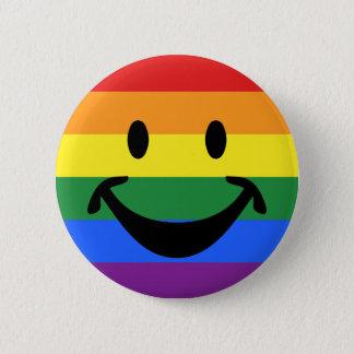 RAINBOW FLAG COLORS & smiley + your ideas Button