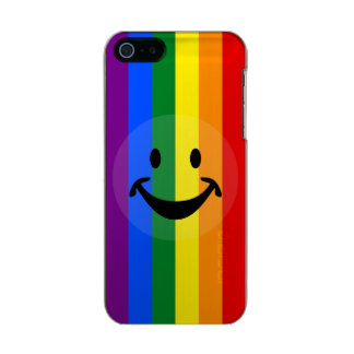 RAINBOW FLAG COLORS & smiley + your ideas Metallic Phone Case For iPhone SE/5/5s
