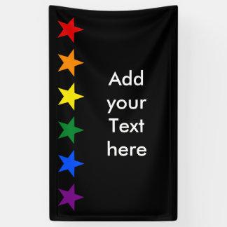 RAINBOW FLAG COLORS stars garland + your ideas Banner