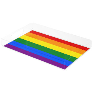 RAINBOW FLAG COLORS   your ideas Acrylic Tray