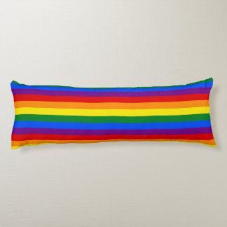 RAINBOW FLAG COLORS + your ideas Body Pillow