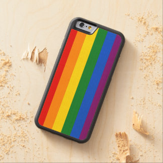 RAINBOW FLAG COLORS + your ideas Carved Maple iPhone 6 Bumper Case