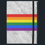 """RAINBOW FLAG COLORS   your ideas iPad Pro 12.9&quot; Case<br><div class=""""desc"""">Background Stripes Pattern colored by EDDA Fr&#246;hlich / EDDArt   Colors: Rainbow Flag of gay pride / LGBT / CSD   You miss other products with this design ? Feel free to contact me: contact@eddart.de or have a look here: www.zazzle.de/eddartiful*   Spread your message!</div>"""
