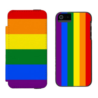 RAINBOW FLAG COLORS + your ideas iPhone SE/5/5s Wallet Case