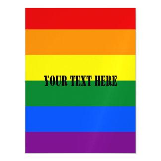 RAINBOW FLAG COLORS + your ideas Magnetic Card