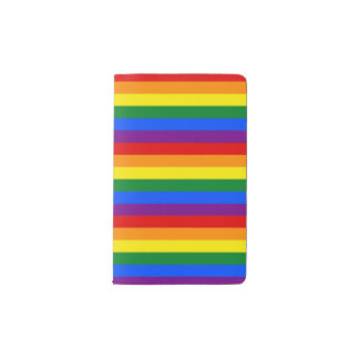 RAINBOW FLAG COLORS + your ideas Pocket Moleskine Notebook