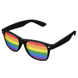 RAINBOW FLAG COLORS + your ideas Retro Sunglasses
