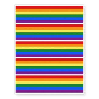 RAINBOW FLAG COLORS + your ideas Temporary Tattoos