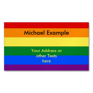 RAINBOW FLAG COLORS + your text & ideas Business Card Magnet