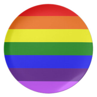 Rainbow Flag Dinner Plate