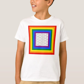 RAINBOW FLAG FRAME + your sign or image T-Shirt