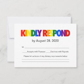 Rainbow Flag Gay Wedding Response