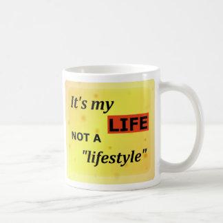 "Rainbow flag / It's my life, not a ""lifestyle"" Classic White Coffee Mug"