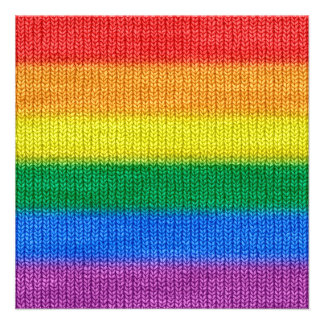 Rainbow Flag knitting Stripes seamless pattern Card