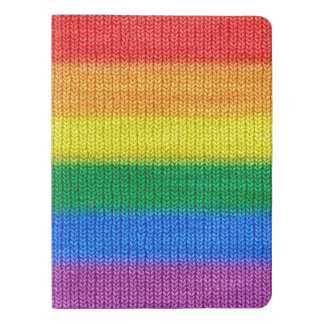 Rainbow Flag knitting Stripes seamless pattern Extra Large Moleskine Notebook