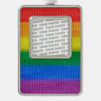 Rainbow Flag knitting Stripes seamless pattern Ornament