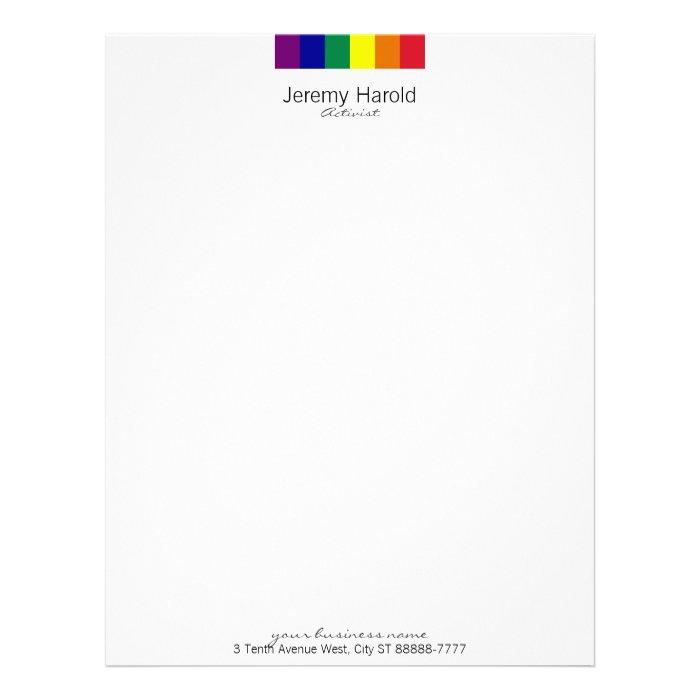 Rainbow Flag Letterhead