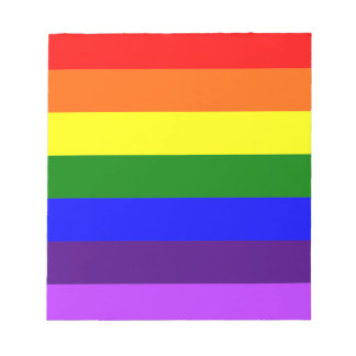 Rainbow Flag Notepad
