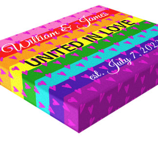 Rainbow Flag Original 8 Stripes LGBT Gay Marriage Canvas Print