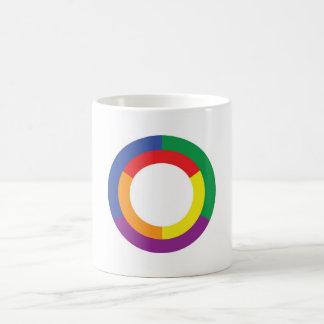 Rainbow flag, overlapping circle design, mug